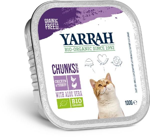 Bio Katzen Bröckchen Huhn&Truthahn von Yarrah