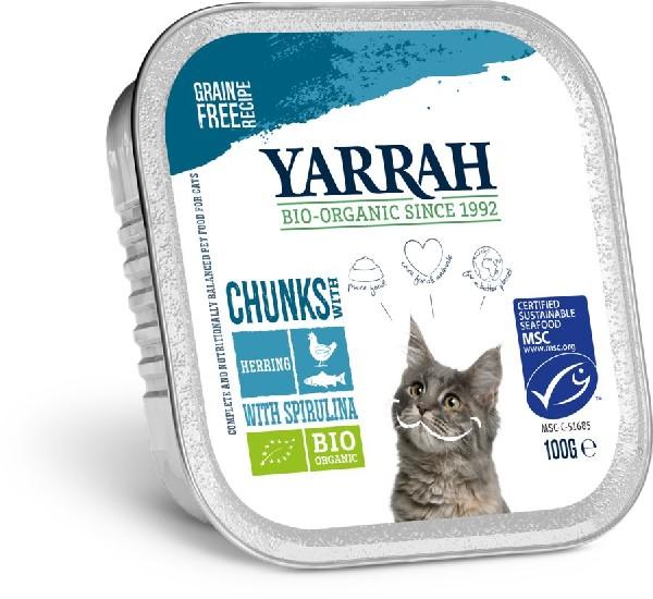 Bio Katzen Bröckchen Fisch von Yarrah