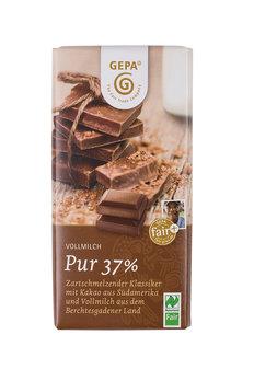 Bio Vollmilchschokolade GEPA Pur 37%