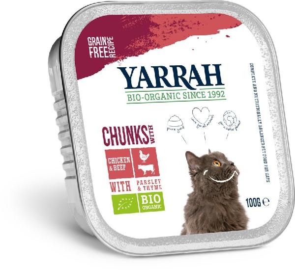 Bio Katzen Bröckchen Rind von Yarrah